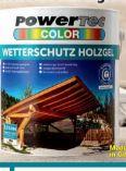 Wetterschutz-Holzgel von Powertec Color