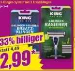 6-Klingen Rasierer von King for Men