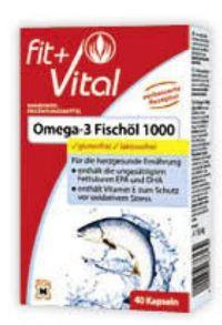Omega 3 Fischöl 1000 von Fit+Vital