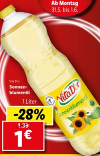 Sonnenblumenöl von Vita D'or