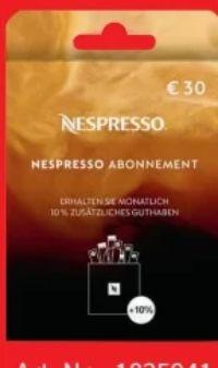 Abonnement Box von Nespresso