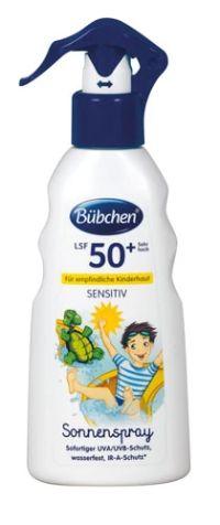 Kinder Sonnenspray Sensitiv LSF 50+ von Bübchen