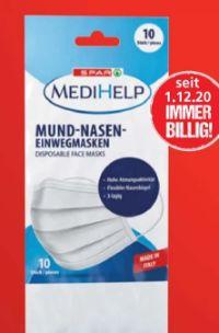 MediHelp Mund-Nasen Einwegmasken von Spar