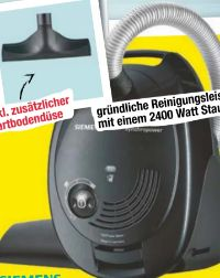 Staubsauger Synchropower VS06V212 von Siemens