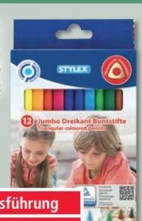 Jumbo Dreikant Buntstifte von Stylex