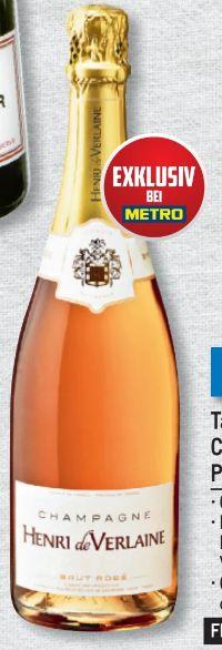 Champagner Rosé von Henri de Verlaine