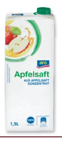 Apfelsaft von Aro