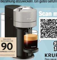 Nespressoautomat XN910B Vertuo Next Light Grey von Krups