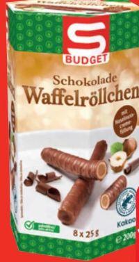 Schokolade Waffelröllchen von S Budget