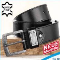 Herren Jeans-Leder-Gürtel von Luigi Lamberto